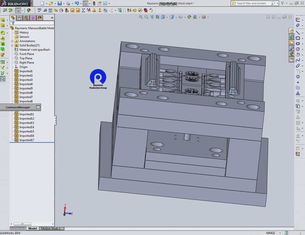 نرم افزار های طراحی قالب پلاستیک